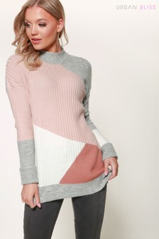 Urban Bliss Longline Patched Jumper