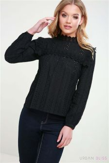 Urban Bliss Crochet Trim Broderie Top