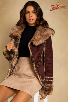 Joe Browns Faux Sheepskin Animal Jacket