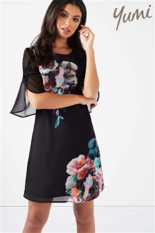 Yumi Floral Placement Tunic Dress