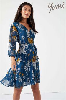 Yumi Peony Wrap Dress