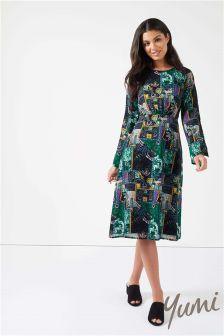 Yumi Persian Patchwork Dress