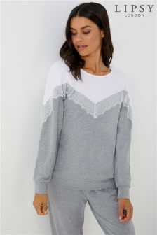 Lipsy Lace Colour Block Sweat Top