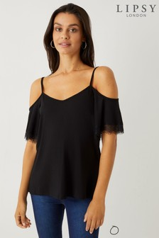 65041974327908 Buy Women s tops Tops Coldshoulder Coldshoulder Black Black from the ...