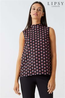 Lipsy Geo Printed Shell Top