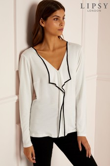 Lipsy Tipping Frill Blouse