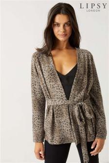 Lipsy Leopard Cut & Sew Cardigan