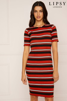 Lipsy Stripe Turtleneck Dress