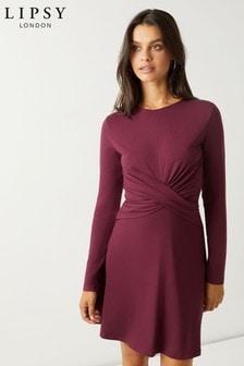 שמלת עם חזית מעטפת של Lipsy
