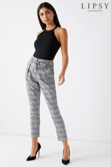 Lipsy Check Tapered Trouser