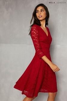 Mela London Long Sleeve Lace Dress