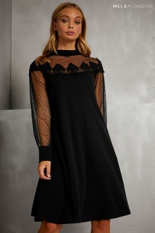 Mela London Mesh Sleeve Dress