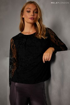 Mela London Lace Long Sleeve Top