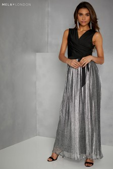Mela London Crinkle Bottom Maxi Dress