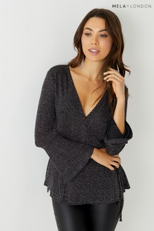 Mela London Bell Sleeve Wrap Top