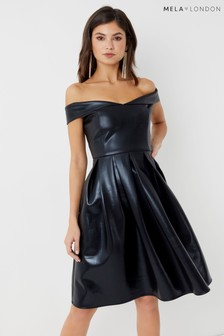 Mela London Bardot Prom Dress