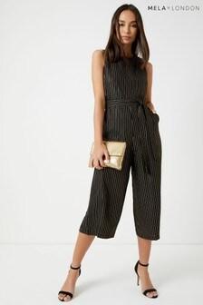 Mela London Pinstripe Cullotte Jumpsuit