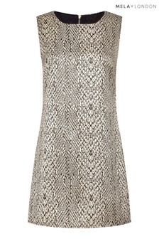 Mela London Snakeskin Sleeveless Bodycon  Dress