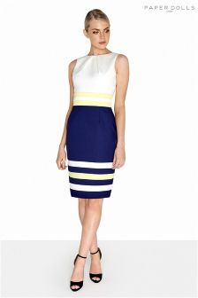 Paper Dolls Stripe Bodycon Dress