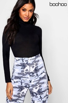 Boohoo Roll Neck Knitted Bodysuit