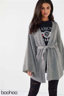 Boohoo Belted Kimono Cardigan