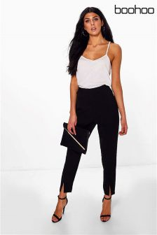 Boohoo Split Front Trousers