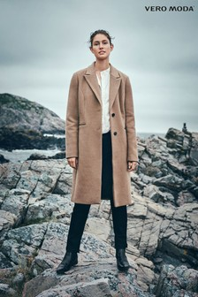 Vero Moda Petite Long Wool Light Coat