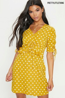 PrettyLittleThing Polka Dot Day Dress