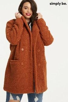 Simply Be Teddy Fur Coat