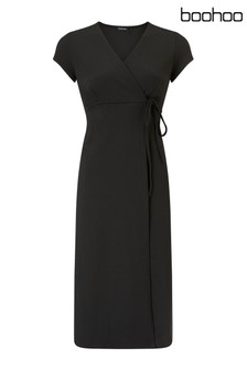 Boohoo Maternity Wrap Dress