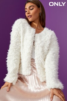 Only Long Sleeve Fluffy Cardigan