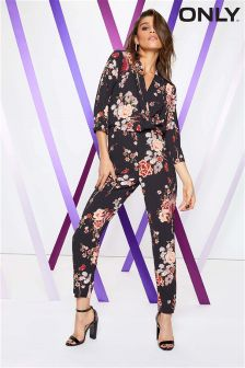 Only All Over Print Wrap Jumpsuit