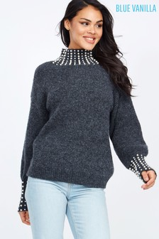 Blue Vanilla Trim Jumper