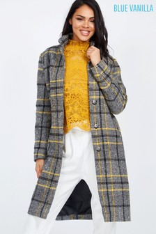 Blue Vanilla Oversize Check Coat