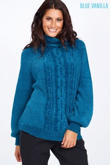 Blue Vanilla Cowl Neck Knit Jumper