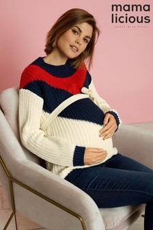 Mamalicious Maternity Long Sleeve Knitted Jumper