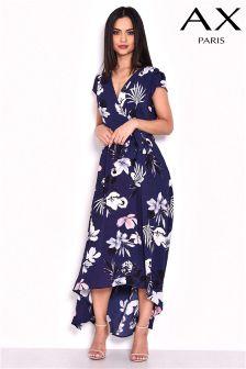 שמלת מעטפת בהדפס פרחוני של AX Paris