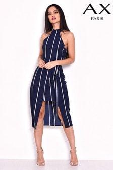 שמלת מידי בהדפס פסים של AX Paris