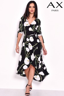 AX Paris Floral Print Wrap Tea Dress