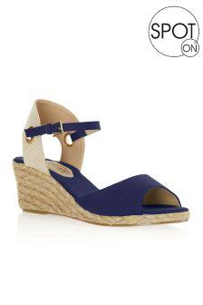 Sandales compensées Spot On en tissu
