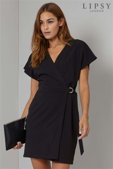 Lipsy Petite D Ring Wrap Dress