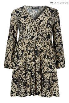 Mela London Curve Paisley Print Wrap Dress