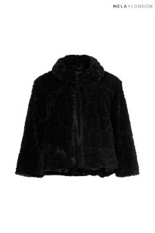 Mela London Curve Faux Fur Collar Jacket