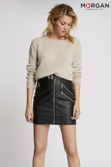 Morgan Faux Leather Skirt