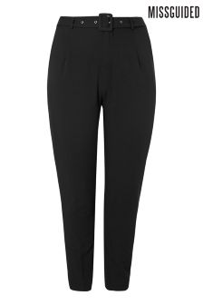 Missguided Curve Belted Tapered Trouser