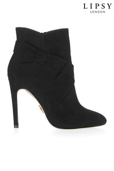 Lipsy Stiletto Bow Detail Ankle Boots