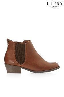 Lipsy Elastic Gusset Ankle Boots