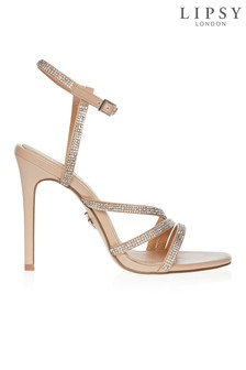 Lipsy Asymmetric Diamanté Sandals