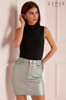 Lipsy Irridescent Mini Skirt