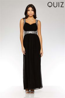 Quiz Sweetheart Neck Embellished Maxi Dress